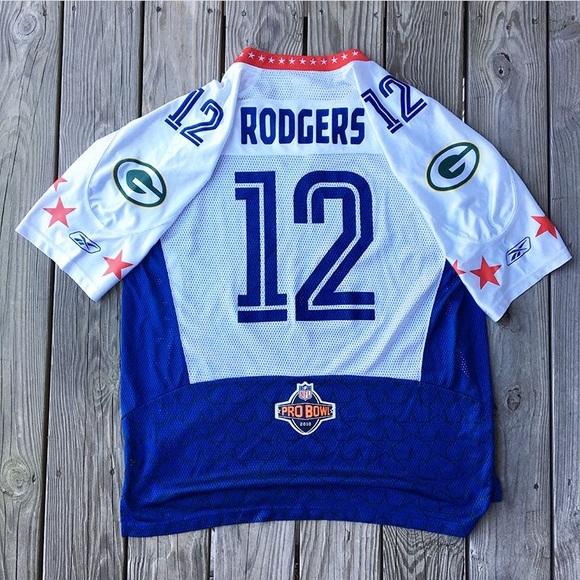 quality design 1bdb6 b4c48 Reebok 2010 Pro Bowl Aaron Rodgers Jersey